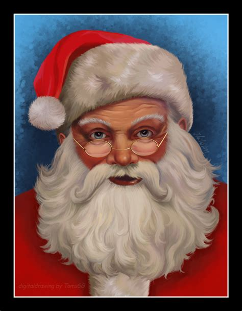 the gallery for gt santa claus portrait painting