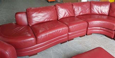 red wine on leather couch rrp 163 4000 dfs super large wine red thick leather corner