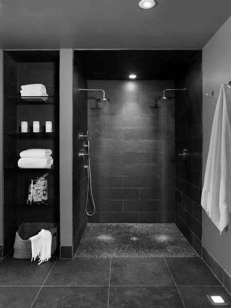 basement bathroom flooring ideas oversized dark grey floor tiles interior bathroom