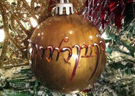 lord of the rings christmas elivish ornament holiday