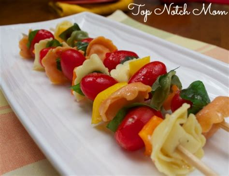easy pasta salad recipe top notch mom colorful pasta salad skewers top notch mom