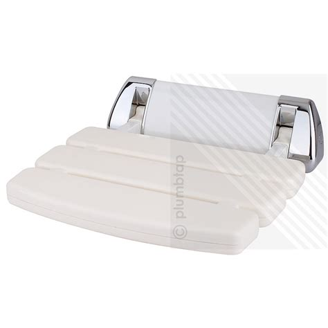 arian elegance plus bathroom wall mounted folding white chrome shower seat hf004
