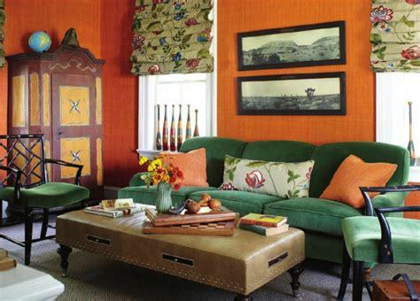 Green And Orange Living Room Decor by Color Verde Para La Decoraci 243 N De Interiores 25 Dise 241 Os