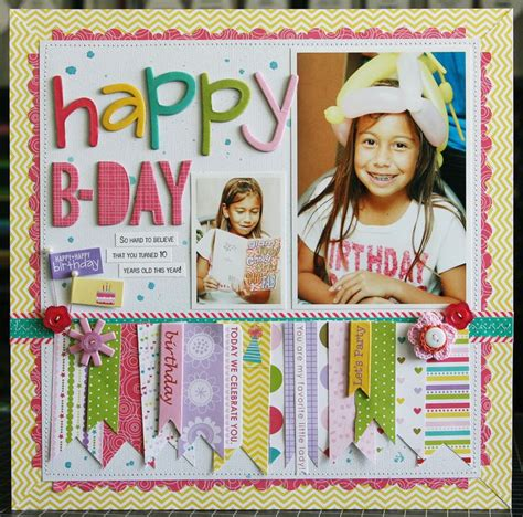 scrapbook layout ideas for birthday birthday layout scrapbook inspiration pinterest