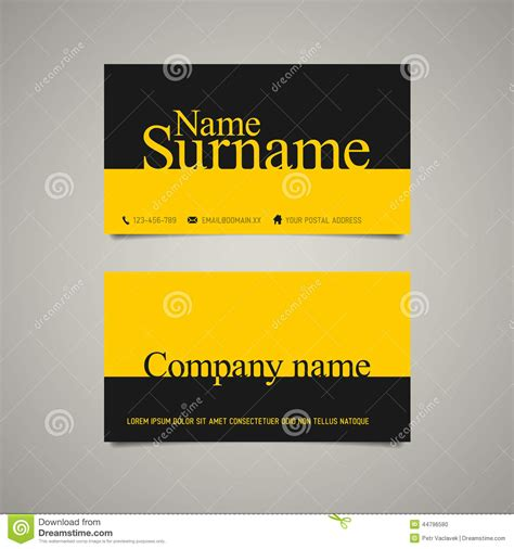 business name template simple business card template vector illustration