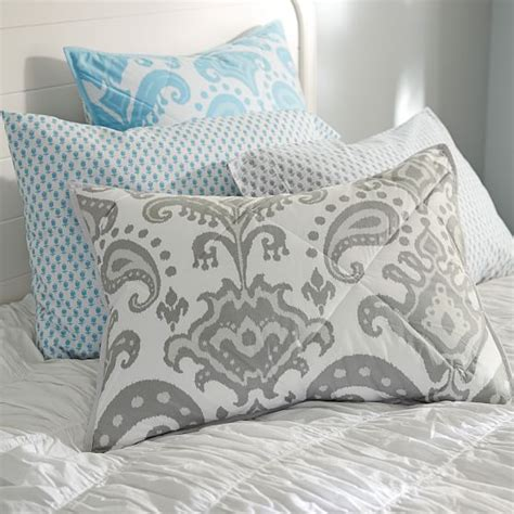 ikat comforter goa ikat comforter sham gray pbteen