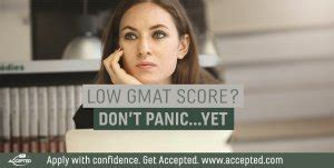 Top Mba With Low Gmat by Is Your Low Gmat Score The End Of Your Mba Accepted