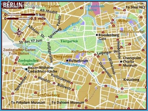 map of berlin berlin map tourist attractions travelsfinders