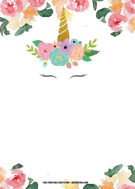 Free Printable Unicorn Rainbow Invitation Free Printable Birthday Invitation Pinterest Unicorn Birthday Invitations Template