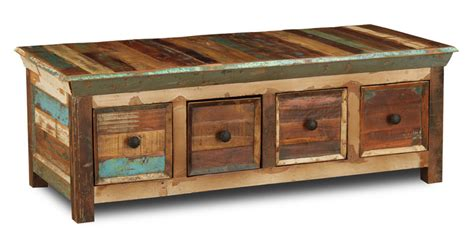 Reclaimed Wood Dining Room Sets by Reclaimed Indian 4 Drawer Coffee Table Trade Furniture