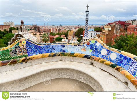 gaudi bench the bench by gaudi in parc guell barcelona stock photo image of pattern curve