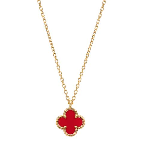 Clover Pendant Chain Necklace cleef arpels sweet alhambra clover pendant on chain