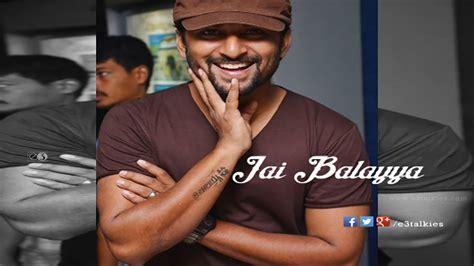 Jai Balayya Tattoo On Nani Hand | nani shows jai balayya tattoo on his hand nani as