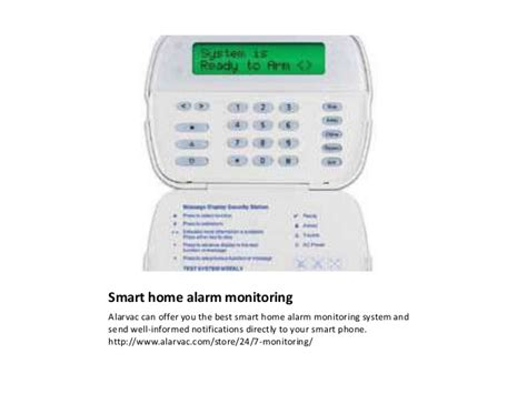 smart home alarm monitoring