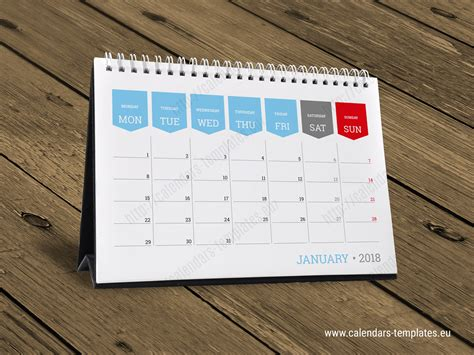 monthly desktop calendar planner printable table month