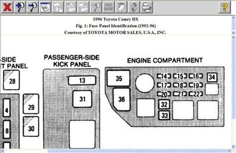 1996 Toyota Corolla Fuse Box Location Where Is The Fuse Located For The Cigarette Lighter On A