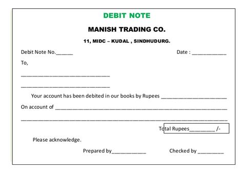 Credit Note Format Meaning Gursale Sir Chapter 3 Source Documents