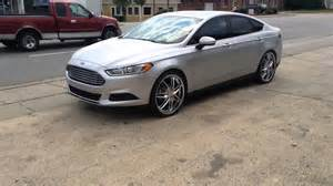 2014 silver ford fusion rolling on 22 quot alloy tech 312s