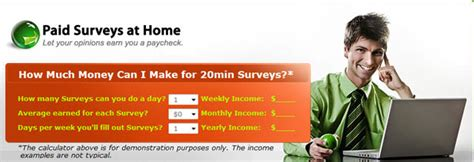paid surveys money work at home