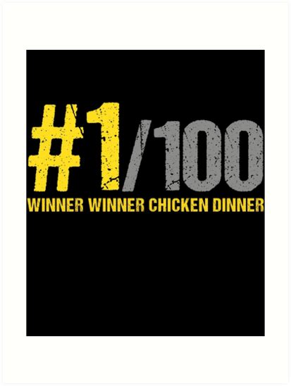 pubg font quot winner winner chicken dinner pubg quot prints by