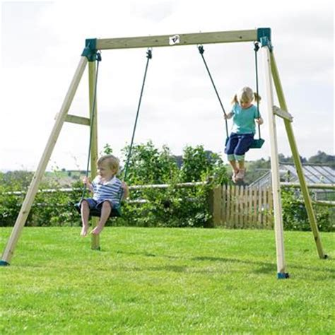outdoor swings for children tp forest double swing 2 garden swings buy online from