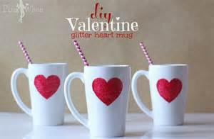 diy valentine glitter heart mug pinkwhen