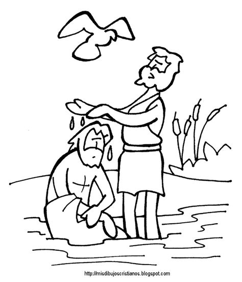 coloring pages jesus baptism baptism of jesus coloring page az coloring pages