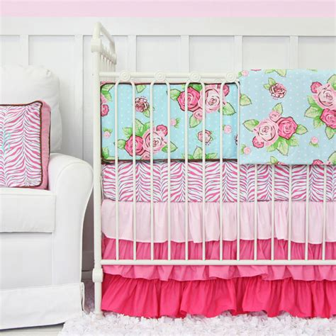 caden lane bedding londyn pink ruffle crib bedding set by caden lane