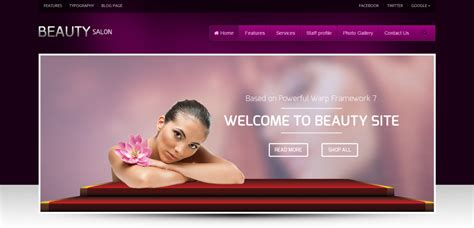 beauty salon websites templates free download ease template 36 best spa and beauty salon wordpress themes weelii