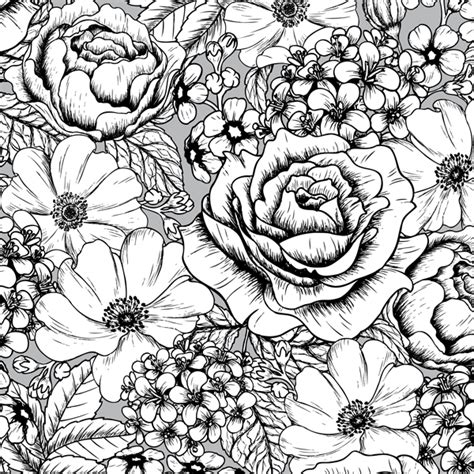 gorgeous coloring book for adults a page of gorgeous flowers from the gorgeous vintage