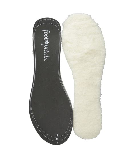 insoles for boots foot petals give em the boot shearling insole at zappos