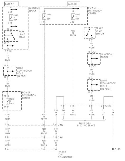 2001 durango wiring diagram for the trailer signals