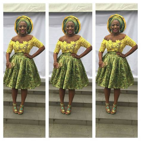 skirt and blouse style with cord lace aso ebi styles green creative lace simple gown styles