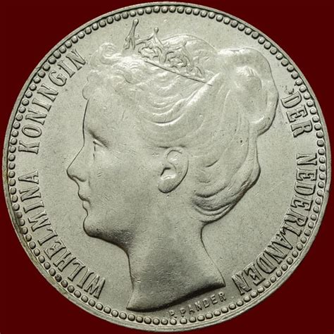 Coin Nederlands Silver 1909 the netherlands 1 guilder 1909 wilhelmina silver