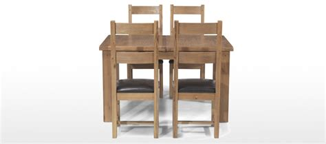 Rustic Oak Dining Table And Chairs Rustic Oak 132 198 Cm Extending Dining Table And 4 Chairs Quercus Living