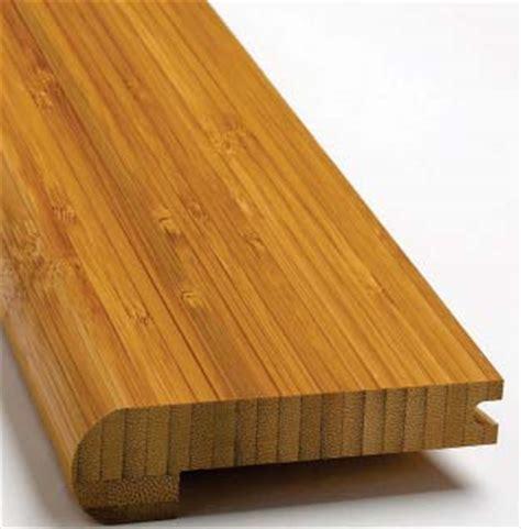 Plyboo Stair Nosing, Amber Edge Grain Bamboo Flooring