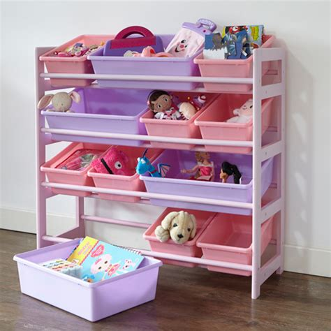 children storage 4 tier toy storage unit pink home storage systems from