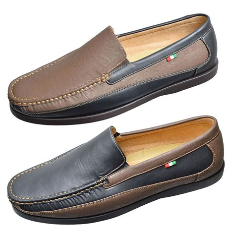 duke d555 big king size mens slip on shoes designer pu