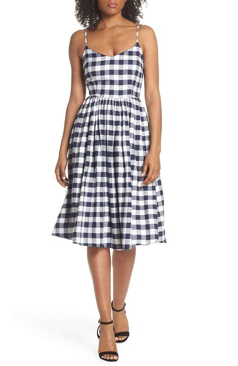 Ll Dress Fara Navy 22 trendy gingham dresses you ll for summer candie