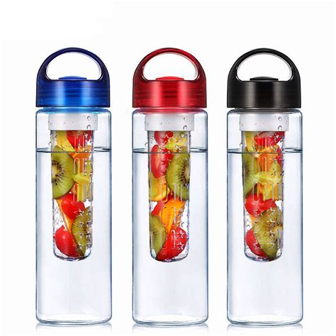 Dijual Sporty Infused Water Bottle fruit infuser water bottle sports health lemon juice bottle at banggood