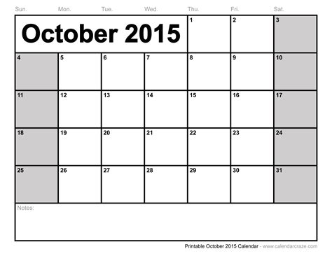printable calendar october 2015 with holidays view october 2015 calendar