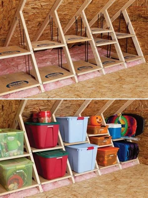 attic area creative attic storage ideas and solutions hative