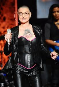 sinead o connor rocks a full leather and shows off