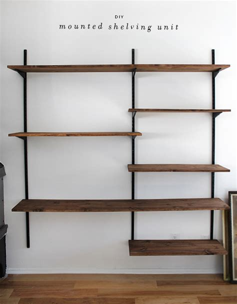 diy mounted shelving   perfect