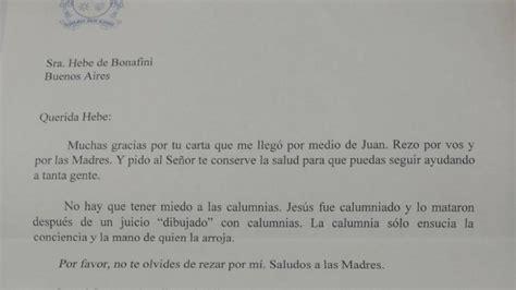 la carta para papa 1481278576 la carta del papa francisco a hebe de bonafini para brindarle su apoyo diario de flores