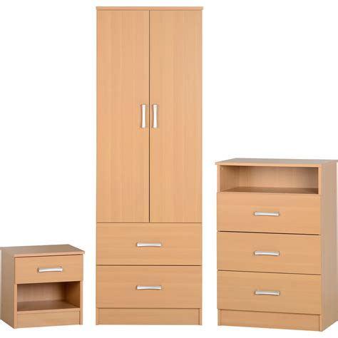 bedroom set beech wood at wilko