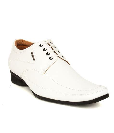 buy san frissco white formal shoes for snapdeal