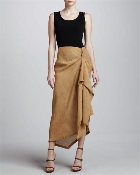 drape skirt brainy mademoiselle draped mullet skirt