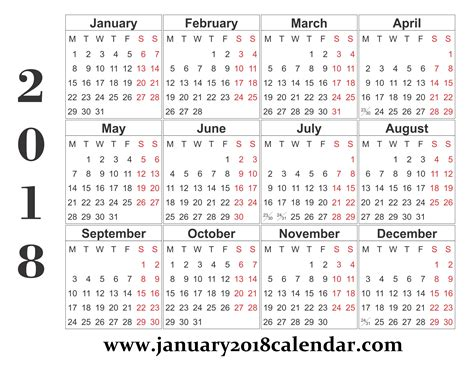 2018 calendar template 2018 printable calendar word templates january 2019 calendar