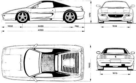 ferrari front drawing car blueprints 1995 ferrari f355 spider cabriolet blueprint